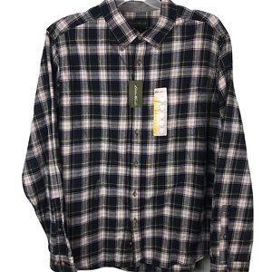 NWT Eddie Bauer Flannel Shirt Button Up Plaid 2XL